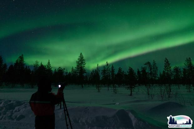 Aurore boréale Laponie