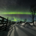 Laponie, aurores boréales