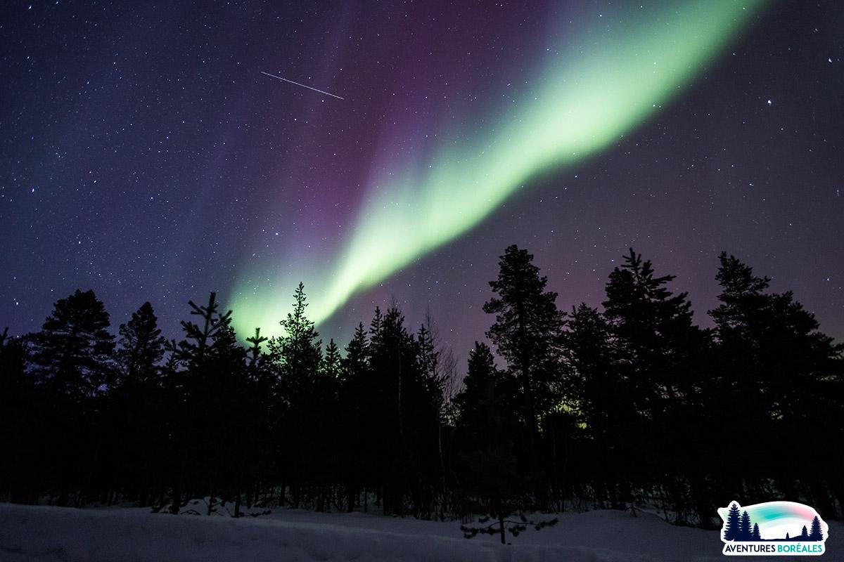 Où voir aurore boreale en Laponie
