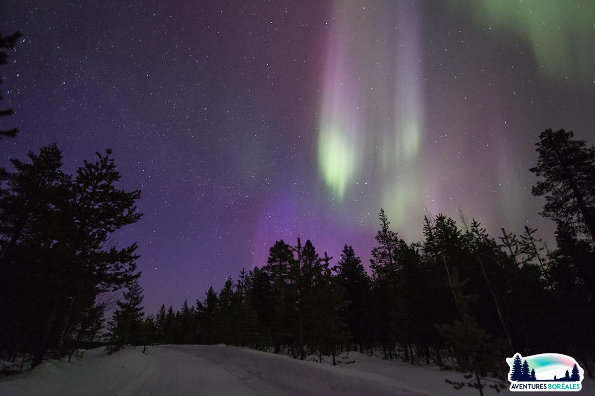 Où voir des aurores boreales en Finlande