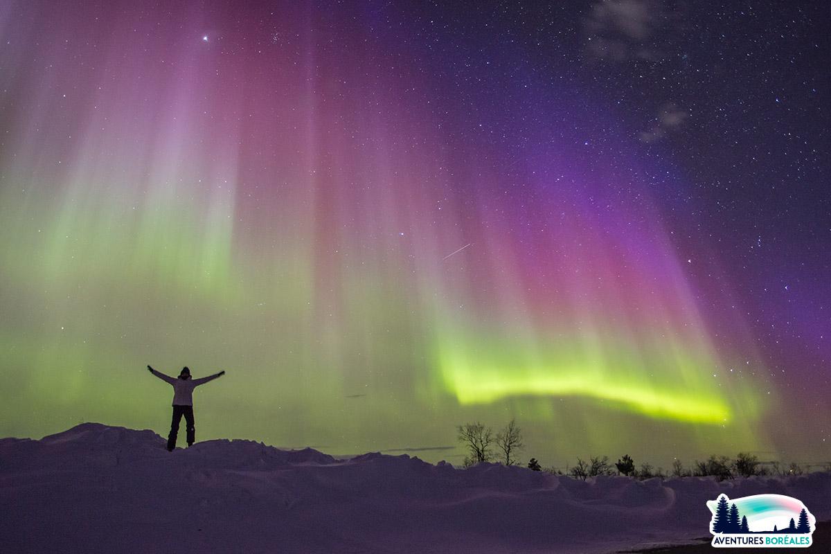 Où voir des aurores boreales en Suède