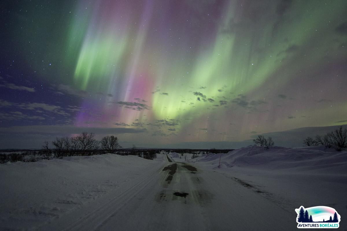 Voir aurore en Laponie