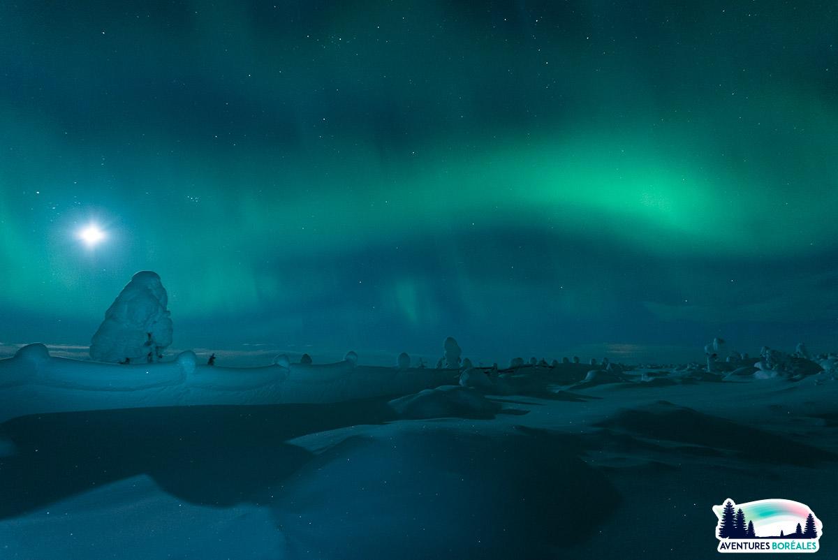 Voir des aurores boreales en Finlande