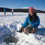 Pêche sur glace en Laponie