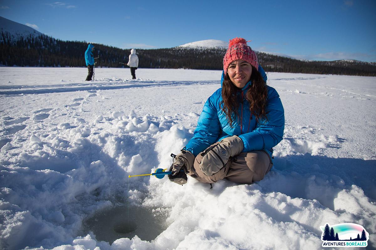Pêche sur glace en Finlande